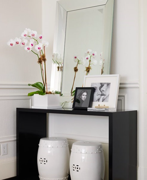 Foyer Table Styling : Basic ideas on styling a console table at home